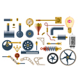 Set of parts and components of the machine mechani vector image vector image