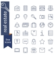 set outline icons for real estate sale vector image