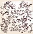 set vintage detailed swirls for design vector image vector image