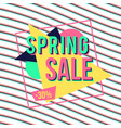 spring sale banner for online shopping with vector image vector image