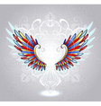 stained glass wings vector image vector image