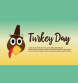 thanksgiving theme turkey day collection vector image vector image