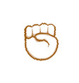 thumb hand gesture people emotion icon vector image vector image