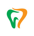 tooth dental healthcare logo image vector image