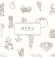 Trendy restaurant menu design hand drawn vector image