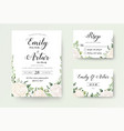 wedding invitation floral invite rsvp cute card vector image vector image