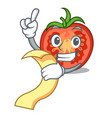 with menu cartoon fresh tomato slices for cooking vector image