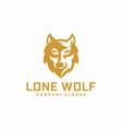 wolf logo design vector image