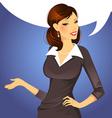 woman speak vector image vector image