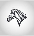 zebra logo icon vector image vector image