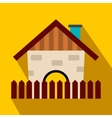 Farm house flat icon vector image