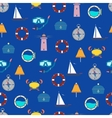 The pattern and the sea vector image