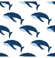 Seamless pattern with hand drawn whales vector image