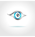 Abstract blue eye on gray background vector image