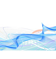 abstract wave lines vector image vector image