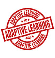 adaptive learning round red grunge stamp vector image vector image