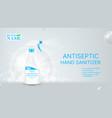 antiseptic hand sanitizer promo banner vector image