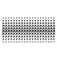 arrow up right shape halftone array vector image vector image