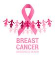 awareness month symbol vector image