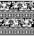 Black and white pattern in African style vector image