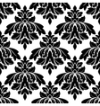 Black damask seamless pattern vector image vector image