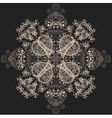 blue floral seamless pattern on gray vector image vector image