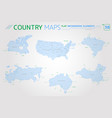 canada russia china united states brazil and vector image vector image