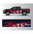 cargo van and car wrap truck decal designs vector image vector image