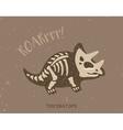 Cartoon triceratops dinosaur fossil vector image vector image