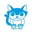 cat animal cartoon vector image