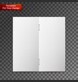 close up of a leaflet blank white paper vector image vector image