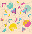 colorful vintage geometric patterns vector image vector image