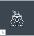 cruise ship related line icon vector image vector image