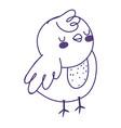 cute little chicken bird farm animal icon vector image