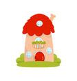 cute small house fairytale fantasy house for vector image vector image