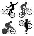 Cyclists Man and fixed gear bicycle vector image vector image
