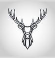 deer logo icon vector image vector image