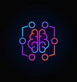 digital brain colorful icon - machine vector image vector image