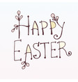 doodle inscription happy easter tree willow twig vector image vector image