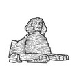 egyptian sphinx sketch engraving vector image vector image