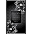 elegance floral frame vector image vector image