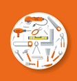 equipment tool and mechanic repair service vector image