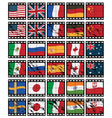 film strip flags vector image