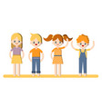 flat cartoon child boys and vector image vector image