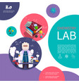 flat laboratory research colorful concept vector image