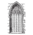 gothic style window or romanesque architecture vector image vector image