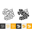 grape simple black line fruit wine icon vector image