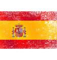 grunge spanish flag vector image