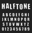 halftone alphabet font template letters vector image vector image