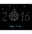Happy New Year Greeting card 2016 vector image vector image